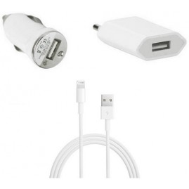 MicroSpareparts Mobile Charger set iPhone 5,6,7 white