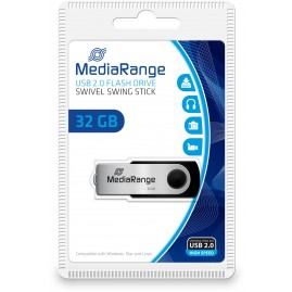 MediaRange USB-Stick 32GB USB 2.0 Flexi