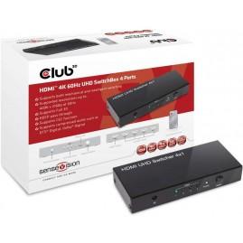 Club3D HDMI 2.0 UHD SwitchBox 4 Ports