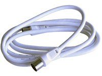 Maximum Coax Cable w Conn 2.5m White