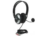 Manhattan Classic Stereo Headset, Black