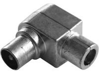 Maximum IEC plug, male, angled, HF