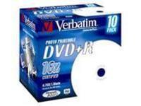 Verbatim DVD+R  16X, 4.7GB Wide Print.