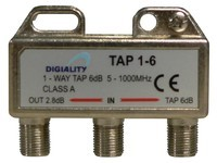 Digiality Antenna 1-Way Tap 6 dB split