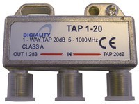 Digiality 1-way tap 1.2 /20 dB