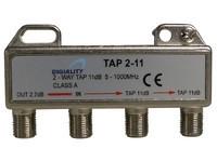 Maximum 2-way tap 2.7/11 dB