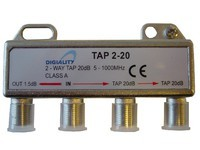 Digiality 2-way tap 1.5/20 dB