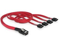 Delock Cable mini SAS 36pin>4x SATA