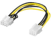 MicroConnect PCI Express 6 pin - 8 pin 0,2m