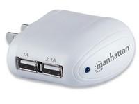 Manhattan Europlug C5, 2x USB type A