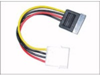 MicroConnect SATA Power 4pin-15pin 0,2m