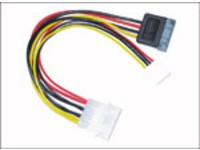 "MicroConnect SATA Power 4pin-4(3,5"")+15pin"