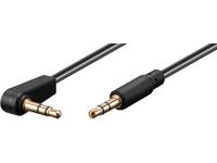 MicroConnect 3.5mm jack Cable 0,5m M-M 90?