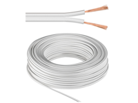 MicroConnect Speaker cable, 25m, white