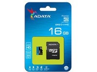ADATA 16GB MicroSDHC Class10. W/Ad.