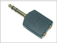 MicroConnect Adapter 6.3mm - 2X3.5mm M-F
