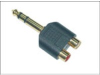 MicroConnect Adapter 6.3mm - 2XRCA M-F