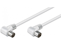 MicroConnect Coax Cable 1.5m White2x Angled