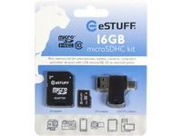 eSTUFF 4in1 Micro SD 16GB