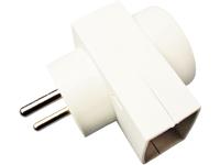 MicroConnect Forgreningsled 2 Udtag Hvid