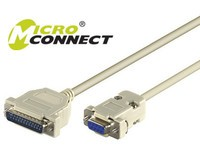 MicroConnect 9PIN-25PIN 0,25M F/M