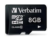 Verbatim 8 GB SD Micro (SDHC) Class 10