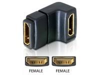 Delock HDMI A -> A 90° U fe/fe