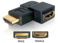 Delock HDMI A -> A 90°left-Ang. ma/fe
