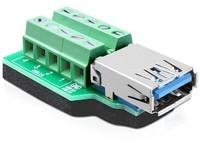 Delock USB 3.0-A female > Terminal