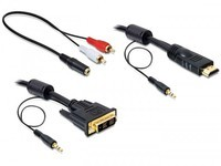 Delock DVI - HDMI +Sound male-male 5m