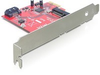 Delock PCIe 1 x SATA 6 Gb/s, 1x mSATA