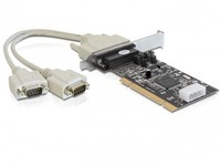 Delock 2 x serial, PCI, LP