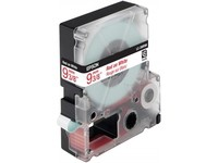 Epson Tape Red on White 9mm