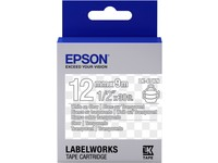 Epson TAPE - LK4TWN CLEAR WHITE/
