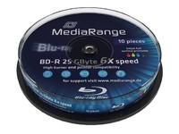 MediaRange BD-R 25GB 6x, 10-pack printabl