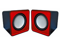 Omega Compact Stereo Speaker Red
