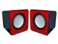 Omega Compact Stereo Speaker Red