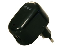 Icidu USB AC Adapter 2 port Black