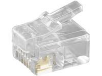 MicroConnect Modular Plug RJ12 6P6C, 50pcs