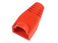 MicroConnect Boots RJ45 Red, 50pcs