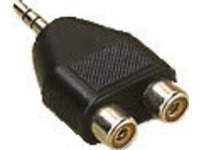 MicroConnect Adapter 3.5mm - 2xRCA M-F