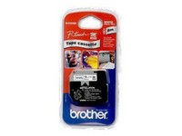 Brother Tape Black on White 12mm