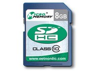 MicroMemory 8GB SDHC Card Class 10