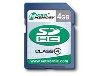 MicroMemory 4GB SDHC Card Class 4