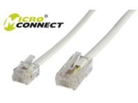 MicroConnect RJ11-RJ45 2M M/M White