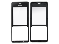 MicroSpareparts Mobile Front Cover Black