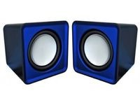 Omega Compact Stereo Speaker Blue