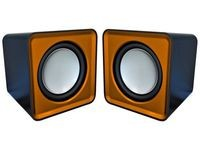 Omega Compact Stereo Speaker Orange