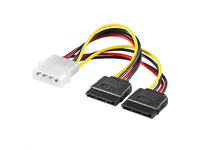 MicroConnect SATA Power 4pin-2x15pin 0,2m
