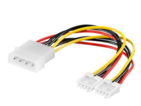 MicroConnect PC Y-Power supply cable, 0,13M
